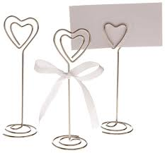 table number card holders silver 50x heart shape table number holder place card holders clips
