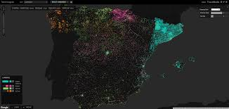 Perl Map Map Of Spain By Wikipedia Language Articles Interactive Map In
