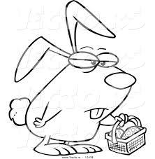 funny easter bunny clipart 61