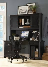 black desk with hutch 4 piece desk and hutch in black or white finish by homelegance