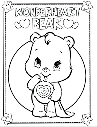 baby wolf coloring sheets pages cheer care bear bears games cute