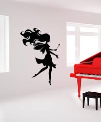 wall decals of people silhouette wall decals stickerbrand vinyl wall decal sticker magical fairy os aa1205