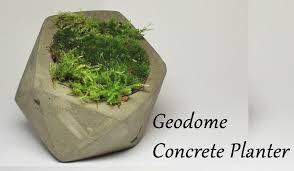 how to make a concrete geometric moss planter youtube