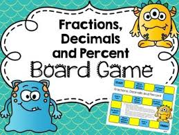 fractions decimals and percent conversion board game by mrs six tpt