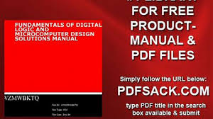 fundamentals of digital logic and microcomputer design solutions