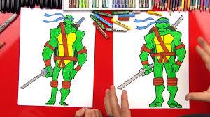 draw leonardo teenage mutant ninja turtle advanced art