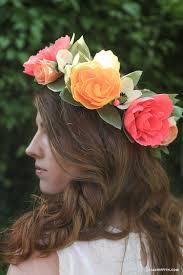 flower headbands diy diy crepe paper flower headband lia griffith