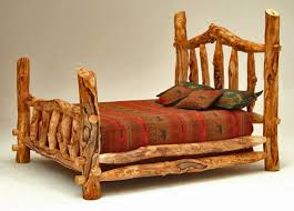 Log Queen Bed Frame Bedroom Impressive Log Cabin Beds Rustic Bed Frames Rocky Top