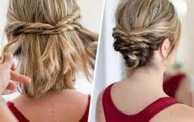 Einfache Hochsteckfrisurenen Mittellange Haar Anleitung by Hochsteckfrisuren Einfach Kurze Haare