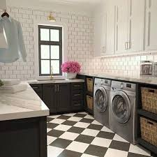 laundry room floor cabinets black and white harlequin laundry room floor tiles design ideas