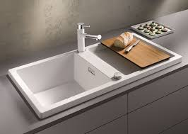 Silgranit Kitchen Sink Reviews by Kitchen How To Clean A Blanco Black Granite Sink Blanco Top
