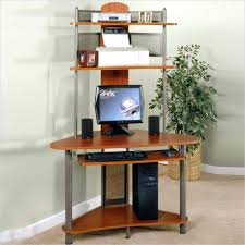 Espresso Computer Desk With Hutch by Desk 107 Ergonomic Small Corner Computer Desks Homezanin