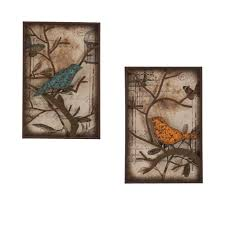southern enterprises 16 in x 24 in bird decorative wall panel