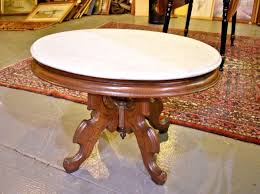antique oval marble top coffee table oval marble top eastlake style antique vintage coffee table by