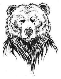 simple design of bear face tattoo tattoos book