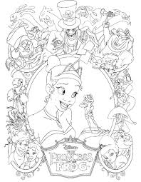 Princess Tiana Was Thrilled Always With Prince Frog Coloring Pages Princess And The Frog Colouring Pages