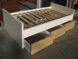 Platform Bed Plans Drawers by Top Twin Platform Bed With Drawers Popular Twin Platform Bed