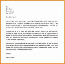 letter of termination of services reference letter address