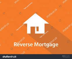 reverse mortgage white text illustration white stock vector
