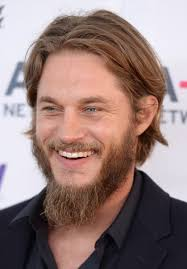 ragnar lothbrok cut his hair travis fimmel in arrivals at the a e networks upfront event in nyc