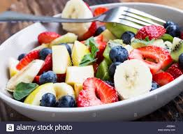 Bowl Of Fruits Bowl Of Fruits Salad With Strawberries Blueberries Apples Kiwi