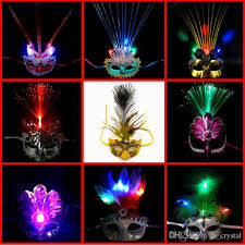 bright light butterfly peacock color mask half feather