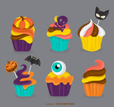 halloween cupcakes illustration vector download