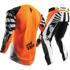 thor motocross jersey thor 2017 fuse air dazz flo orange white kids gear set at mxstore