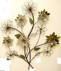 Metal Flower Wall Decor - wall art ideas design green leaves flower metal wall art design