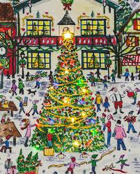 michael storrings lighted christmas village canvas balsam hill