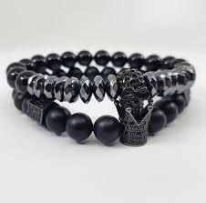 black skull bracelet images Jet black skull x crown set man ique jpg