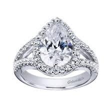 platinum halo engagement rings platinum split shank pear halo engagement ring