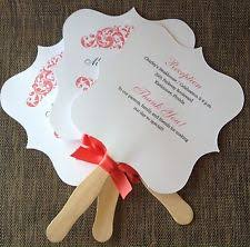 fan shaped wedding programs wedding programs ebay