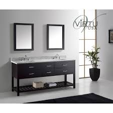 virtu bath vanities virtu usa md 2272 wmsq caroline estate 72 double square sink