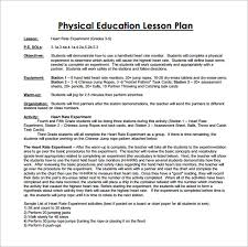 Kindergarten Floor Plan Examples Physical Education Lesson Plan Template U2013 8 Free Sample Example