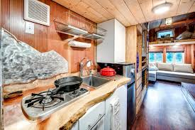 Tiny House Kitchens by Basecamp Tiny Home Boasts A Large Rooftop Deck For Mountain