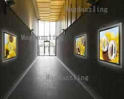 3pcs led illuminated acrylic poster frame wall mounted led display
