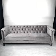 Grey Velvet Chesterfield Sofa Velvet Chesterfield Sofa