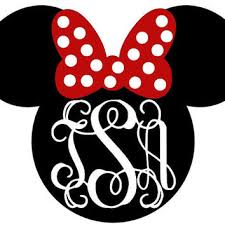 minnie mouse monogram minnie mouse monogram decal from simpleandsweetdecals on