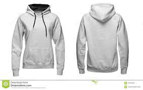 gray hoodie sweatshirt mockup isolated on white background stock