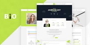 resume cv vcard theme by designthemes themeforest