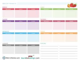 free printable weekly meal plan worksheet nutrition pinterest