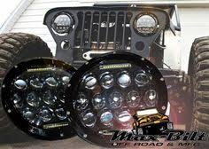 headlights jeep wrangler lantsun 75w 7inch led headlight with drl hi lo beam