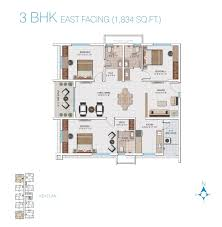 3 bhk apartment floor plan my home avatar luxury 2 and 3 bhk apartments and flats in gachibowli