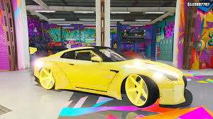 gold nissan car 2014 nissan gtr r 35 liberty walk gold edition replace gta5