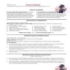 Interior Designer Resume Examples Interior Designer Resume Samples Interior Design Resume Samples
