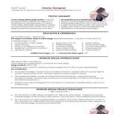 interior designer resume samples resume format for interior