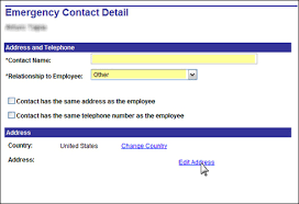how to review or change emergency contact university of houston
