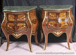 Bombe Secretary Desk by Photo Of Pair Bombe Louis Xv Nightstands Chest Drawers Commodes
