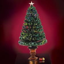 the 4 u0027 fiber optic twinkling tree hammacher schlemmer
